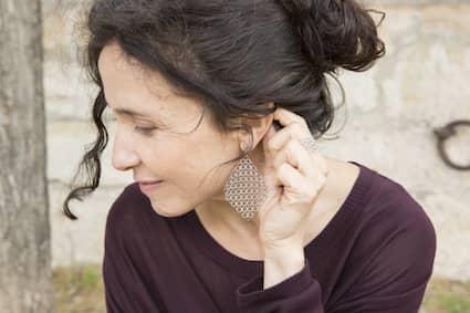 La collection zoé crée en 2020 -  boucles d'oreilles  - Pascale LION